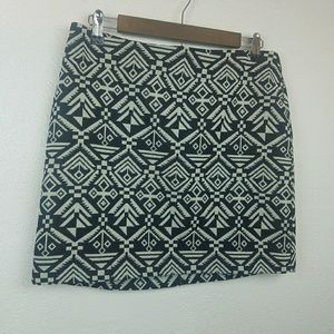 H&M Divided Aztec Mini Skirt Size 12